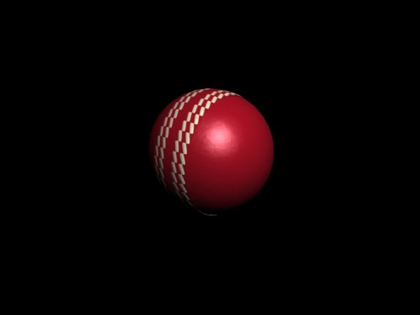 simple cricket ball 3d model