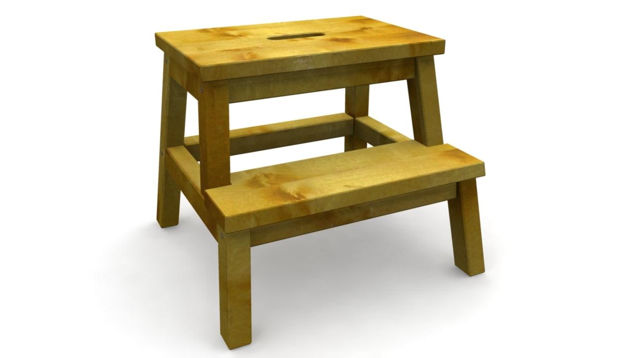 stool climb seat 3d ma