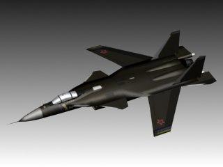 3d sukhoi su-47 berkut model