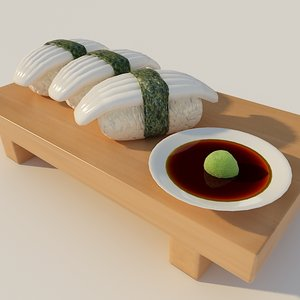 sushi 3d max