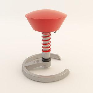 3d swopper stool model