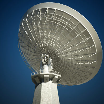 3ds max radio satellite dish