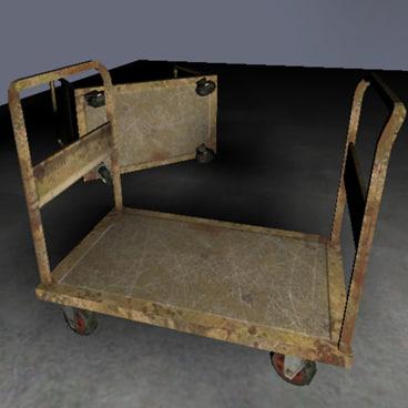 industrial trolley 3d x