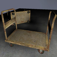 industrial trolley 3d x