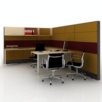 manager workstation cubicle 3d max
