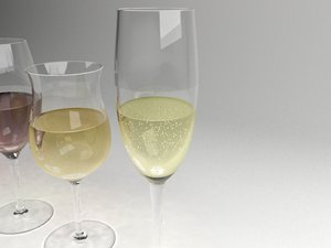 3dsmax wine glasses