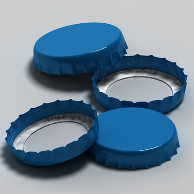 3d max bottle cap