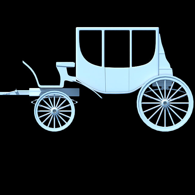3ds max carriage car