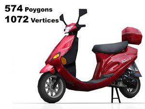 moped rendering 3d model