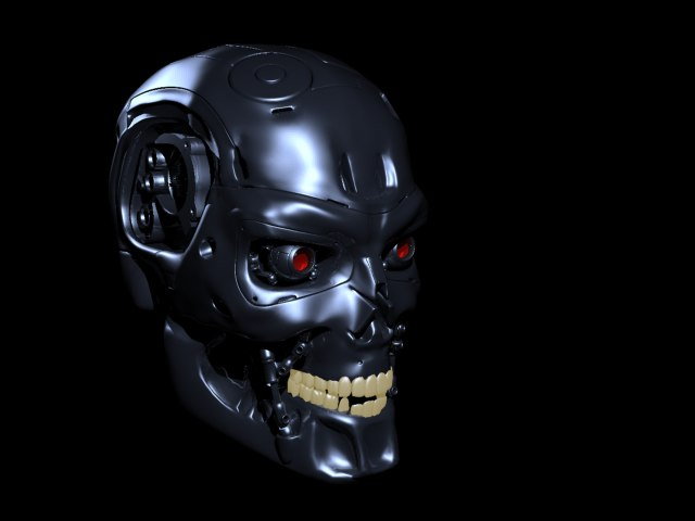 obj terminator skull