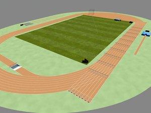 field track court 3d model