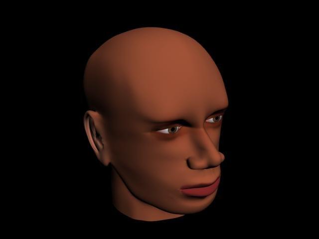 3d model human face