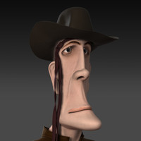 3dsmax cartoon male cowboy