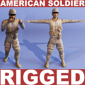 3d american soldier model