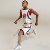 sportsmens basketball player 3d 3ds