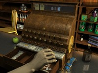 old cash register 3d model