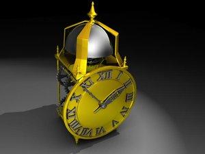 maya lantern clock gears