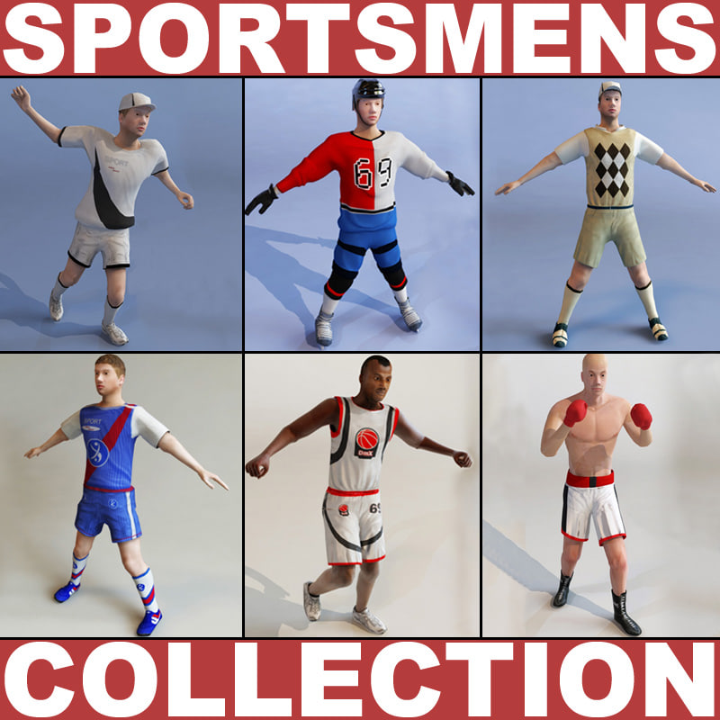 sportsmens basketball player 3d 3ds