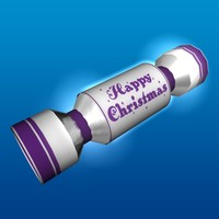 christmas cracker 3d c4d