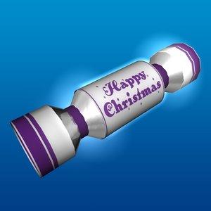 christmas cracker 3d c4d