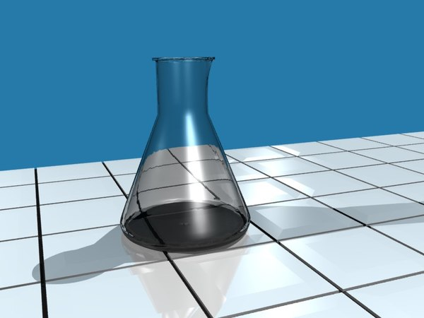 free glass erlenmayer flask 3d model