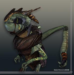 3d grasshopper character next-gen model