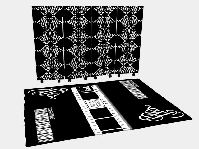 3d model foldingscreen carpet