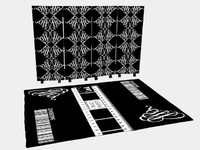 3d model foldingscreen carpet