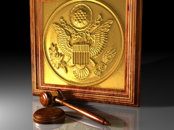 3d model gavel justice