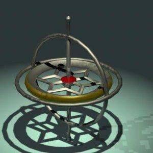 3d model gyroscope
