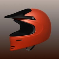 cross motorcycle helmet 3d model