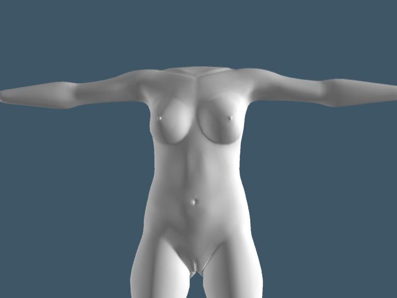 free 3ds model woman body