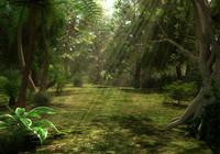 jungle scene 3d model