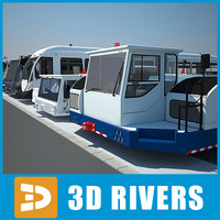 Large airport vehicles collection by 3DRivers