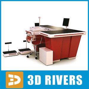 3d model checkout cash register