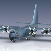 usaf mc-130e c-130 hercules 3d 3ds