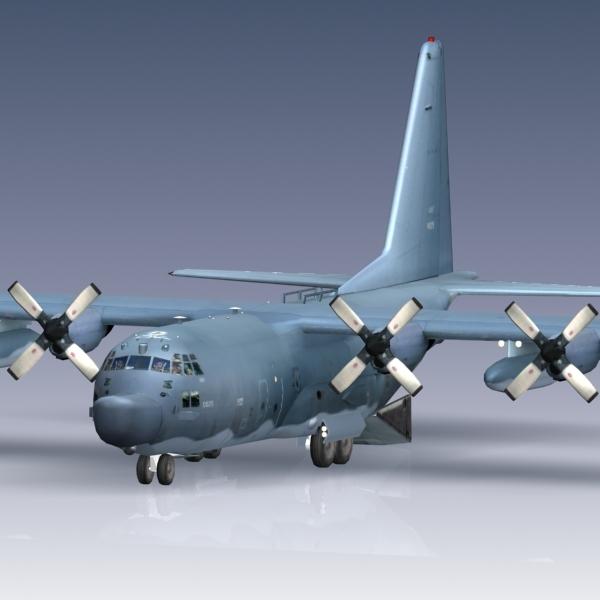 usaf mc-130h c-130 hercules obj