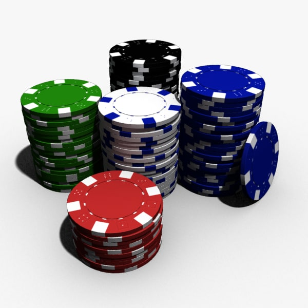 poker chips polygons 3d max
