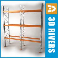 3d model pallet rack storage