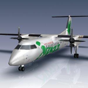 3d q300 bombardier airliner model