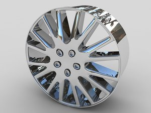 alloy car wheel 3d model