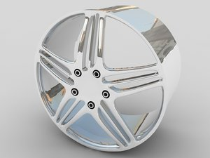 3d model alloy car wheel