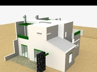 semi-detached house 3d model