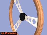 steering wheel 3d 3ds