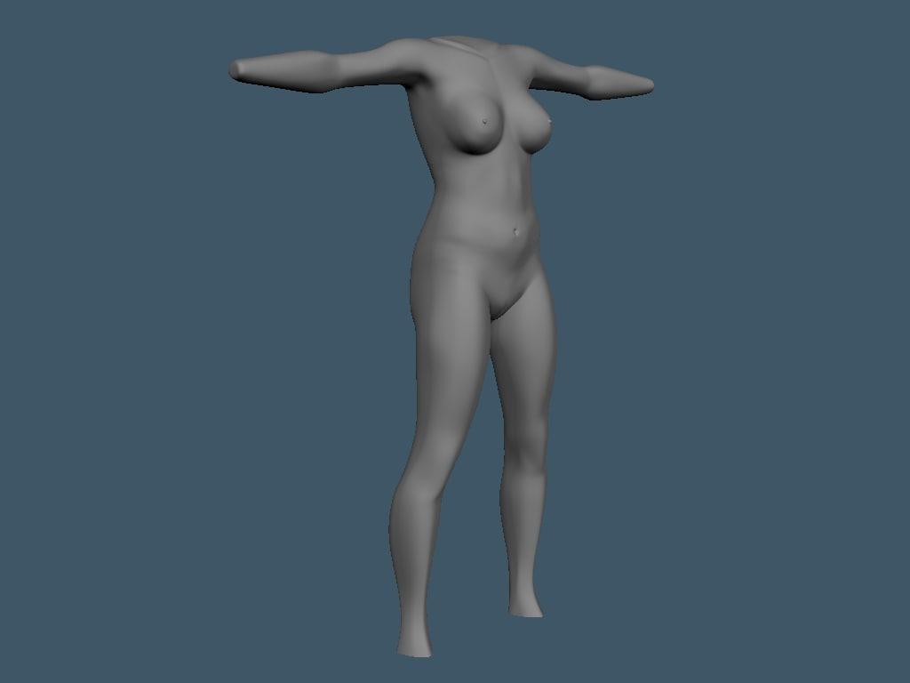 body mesh obj free