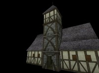 medieval town hall 3d x