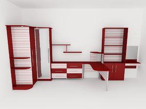 3d max furniture cabinet