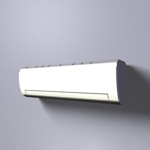 european style air conditioner 3d model