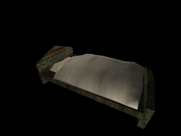3ds max medieval bed