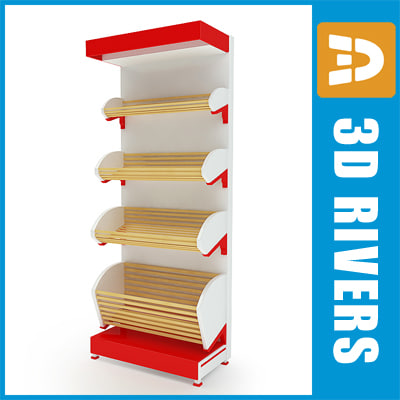 bread shelf 3d model
